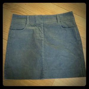 J. Crew Gray Corderoy Skirt, Size 0